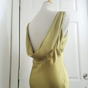 Nicole Miller cowl back silk gown